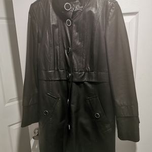 Leather coat... Excellent condition